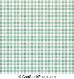 Green checkered rural tablecloth background
