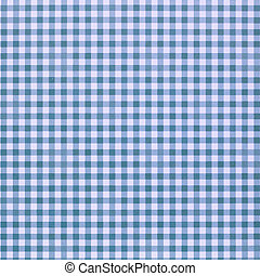blue checkered rural tablecloth background