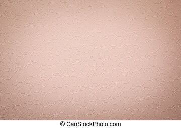 vintage faded light pink background with round organic ornaments