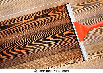 Stock foto von wischer putzen boden boden putzen for Boden putzen