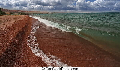 Bright sand - Bright terracotta sand and clear water