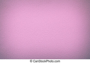 light violet/purple background with round organic ornaments