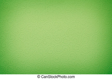 vivid green background with round organic ornaments