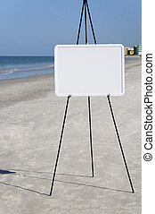 White Sign at the Sea