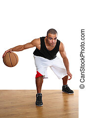 Basketball player - Young mulatto man in sportswear playing...