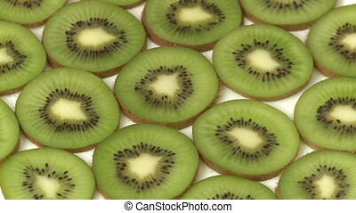 Slices of kiwi fruit   - Slices of kiwi fruit