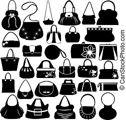 Purses set isolated on white