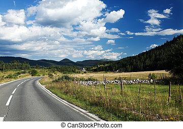 Broken Road - Old road in Durmitor park, Montenegro