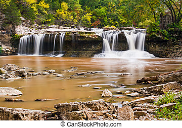 Indianas Upper Catarct Falls - Upper Cataract Falls in...
