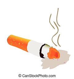 cigarette vector illustration art on white background