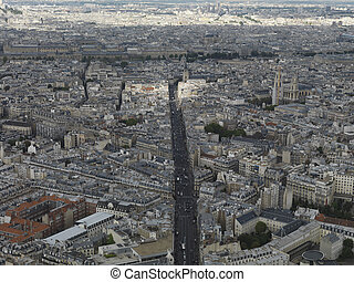 aerial photo paris