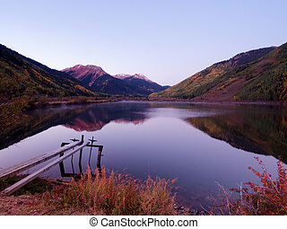 Autumn Lake - Crystal Lake in autumn near Ouray, Colorado