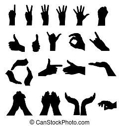 hand signal on white. vector illust