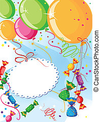 balloons and candy
