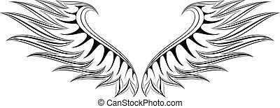 WING 4 - illustration of wings