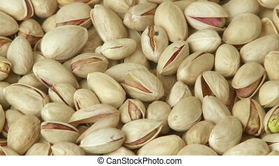 Pistachio nuts background close-up - Pistachio nuts...