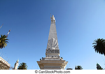 "Piramide de Mayo - The landmark called ""Piramide de Mayo"" on..."