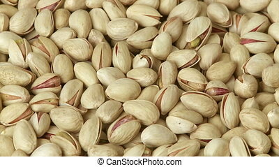 Pistachio nuts background - Heap of pistachio, full frame...