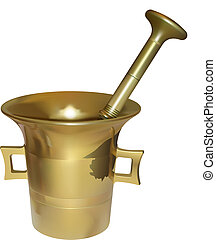 mortar - vector vintage mortar on white background