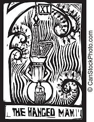 Tarot Card Hanged Man - Tarot Card Major Arcana image of the...