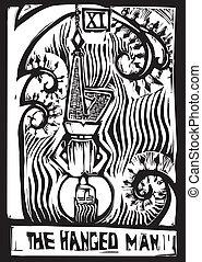Tarot Card Hanged Man - Tarot Card Major Arcana image of the...