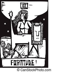 Tarot Card Fortitude - Tarot Card Major Arcana image of...