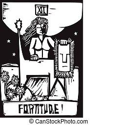 Tarot Card Fortitude - Tarot Card Major Arcana image of...