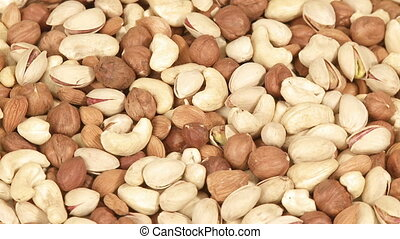 Variety of nuts - Nuts background