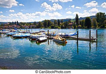 Stein am rhein harbor, Switzerland