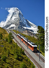 Gornergrat train and Matterhorn Switzerland - The...