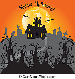 Haunted Trail and House Card