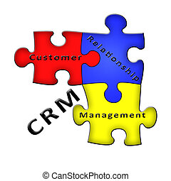 Customer Relationship Management CRM puzzle diagram