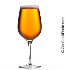 Large beer goblet chilled - Chilled isolated wine goblet...
