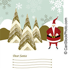 Santa Claus letter - Dear Santa blank lines to write the...
