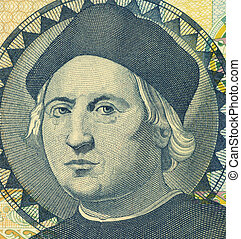 Christopher Columbus 1451-1506 on 1 Dollar 1992 Banknote...