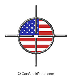 Targeting USA concept isolated in white