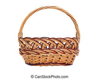 cesta, cestería, manija