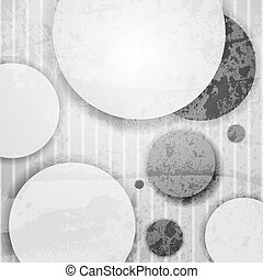 abstract background with paper circles.
