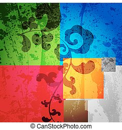 Abstract vector colorful background