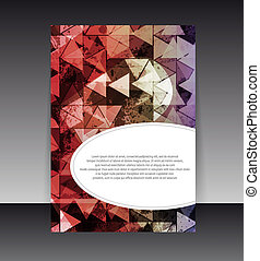 Flyer or cover design. Folder design content background. editable vector illustration