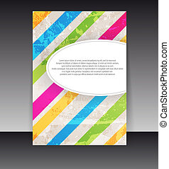 Flyer or cover design Folder design content background...