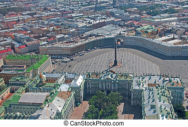 Palace square - Birdseye view of Palace square in Saint...
