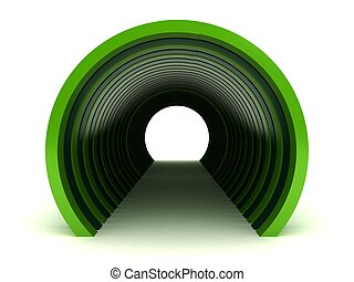Green Tunnel Isolated on white background