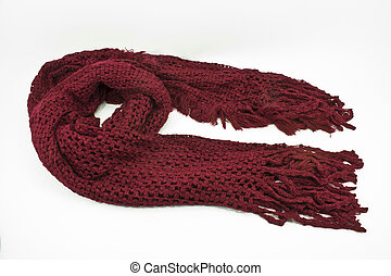 Red scarf - Red winter scarf made of wool