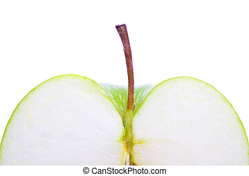 green apple cut background