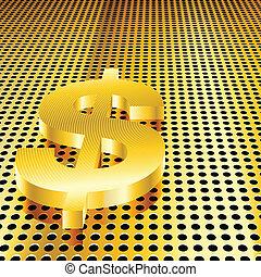 Golden Dollar Background
