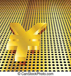 Golden Yen Background