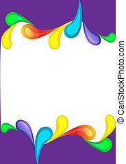 violet vertical background with color drop - illustration...