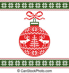 Christmas ball with deers
