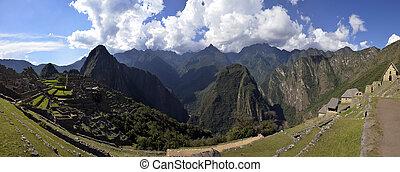 Stitched Panorama of Ruins of Machu Picchu